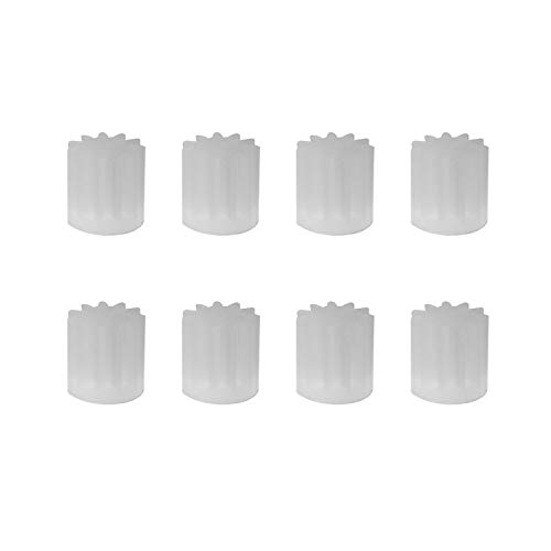 Maxmoral 8pcs Motor Gear Parts 11Teeths for H12C F181 U818A H502E H502S RC Quadcopter Drone