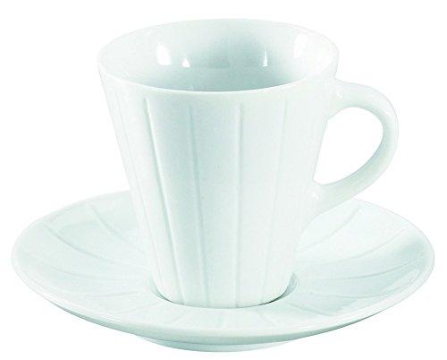 Visiodirect Lot DE 6 Tasses et sous Tasses Mixtes SFOOD Porcelaine Ø90 x H77 mm. 20cl
