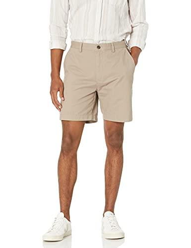"""Amazon Essentials Men's Classic-Fit 7"""" Short, Khaki, 36"""
