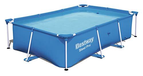 Bestway Steel Pro rechteckiger Kinderpool, mit stabilem Stahlrahmen, 259 x 170 x 61 cm