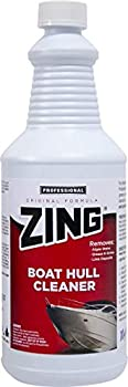 ZING Professional Boat Hull Cleaner - Quart Bottle - Super Strength Cleaner Removes Marine Stains & Buildups on Boats Effective on Zebra Mussels & Barnacles - Fresh & Salt Water Boats -  N074-Q12