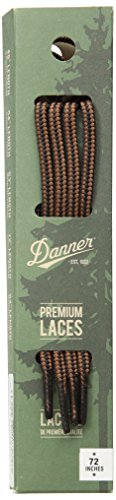"""Danner Laces 72"""" Shoelaces, Black/Tan, Medium"""