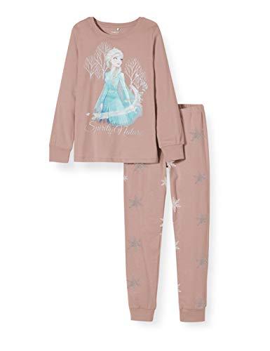NAME IT Mädchen 13171346 Zweiteiliger Schlafanzug, Rosa (Woodrose Woodrose), (Herstellergröße: 104)