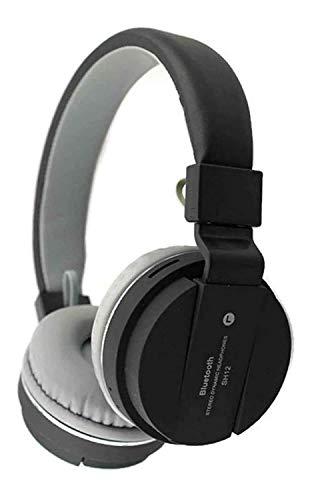Buddymate SH-12 Wireless Bluetooth Over the Ear Headset with Mic (Random Colour)