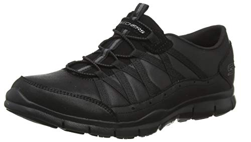 Skechers Gratis-Fine Taste, Zapatillas sin Cordones Mujer, Negro (BBK Black Microleather/Trim), 38 EU