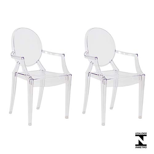 Kit 2 Cadeiras Louis Ghost Transparente