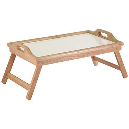Taylor & Brown Lichtgewicht Bamboe Houten Bed Lade Tafel Met Opvouwbare Benen, Ontbijtlade voor Bank, Bed, Eten, Werken, Gebruikt Als Laptop Bureau Snack Tray