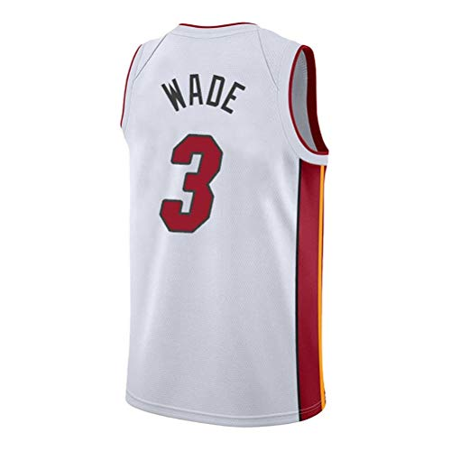 Rencai Dwyane Wade # 3 di Pallacanestro Maschile Jersey, Miami Heat Retro Swingman Jerseys (Color : 3, Size : XS)