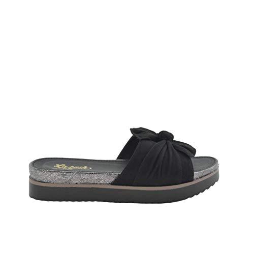 Sandalia Plataforma Goma Negra