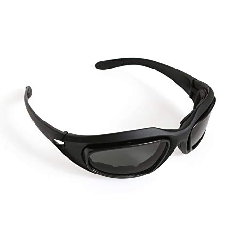 UpgradeWith Foam-Lined Safety Glasses Airsoft Goggles I Safety Goggles with Interchangeable Lens I Enhanced UV and Dust Protection I Anti Fog Safety Glasses I Black Safety Glasses I Protective Glasses