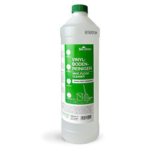 bio-chem Vinyl-, PVC- und PU-Bodenreiniger - Konzentriertes Reinigungsmittel für die materialschonende Reinigung von PVC-Designbelag, Vinyl-, Linoleum- und Laminatböden aller Arten - 1000 ml