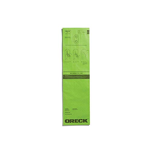 Oreck Type CC Anti-Allergen Upright Vacuum Cleaner Bag, AK1CC6A, 6-Pack, 6 Pack, Green, 6 Count