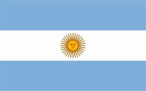 Kiwistar - Pegatina para coche, 10 cm, argentina, laminada, muy larga duración