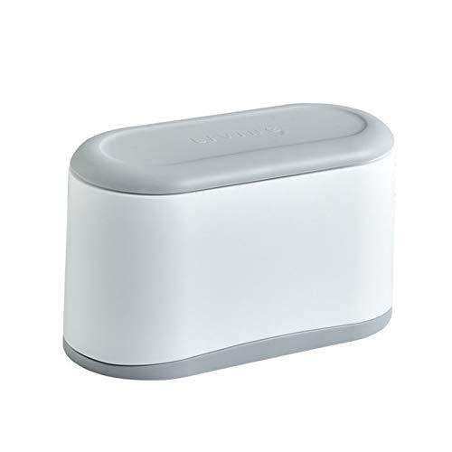 LACALA Mini Papelera con Tapa, con Estilo de Escritorio Bote de Basura para la Alimentación, Maquillaje Residuos, Tiny Desk plástico encimera de contenedores