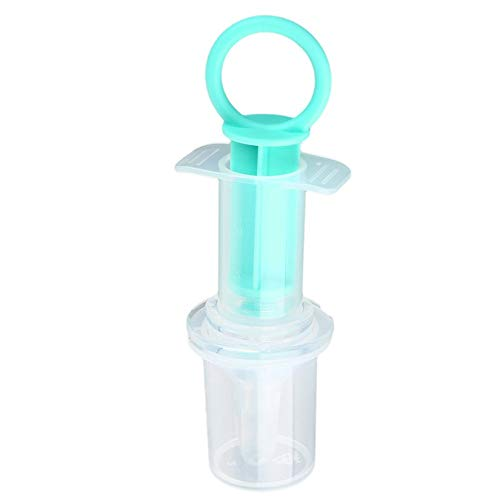 Chupete Alimentación Cargador Anti Aguja de asfixia Jeringa Gotas Utensilios Bebé Infantil Agua Silicona Leche Medicina Pezón Sopa - Azul