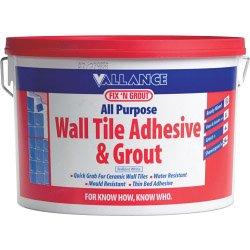 Vallance Fix 'n Grout All Purpose Wand Fliesenkleber Und Fugenmörtel &Weiß