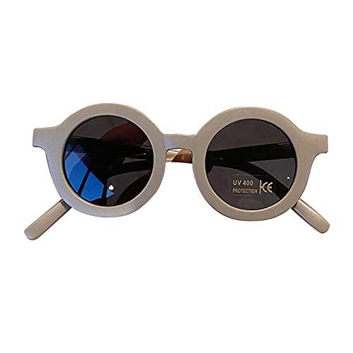 WOTEG Gafas de Sol para Niños Flor Redonda Gafas Lindo para Bebés Protección UV 400 de Fiesta Playa al Aire Libre, Gafas de Sol polarizadas para Niños en Bebés