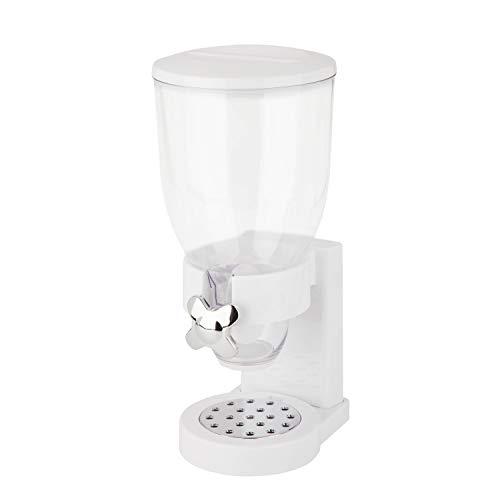 Zevro /GAT101C Indispensable Dry Food Dispenser, Single Control, White/Chrome