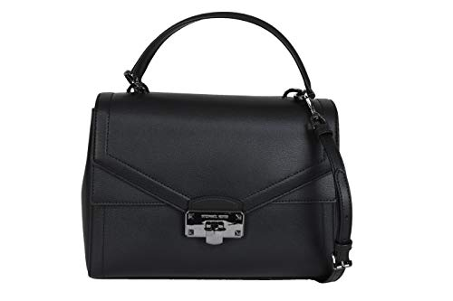Made of leather Removable and adjustable crossbody strap, wear three ways, crossbody, over the shoulder or carry by hand Front flap closure Outside 1 front slip pocket with flap, 1 back slip pocket. Inside 3 compartments including 1 zipped middle com...