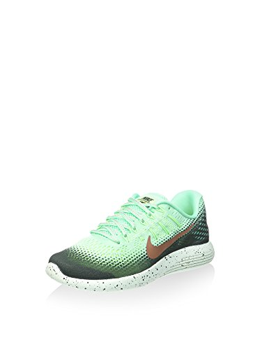 Nike Lunarglide 8 Shield, Scarpe da Trail Running Donna, Verde Acqua, 37.5 EU
