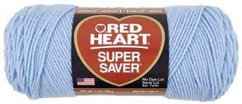 Red Heart Super Saver Yarn-Light Blue