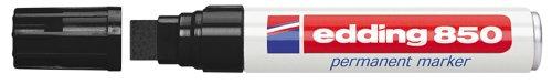 edding 850 Permanentmarker - schwarz - 1 Stift - Keil-Spitze 5-15 mm - für breite Markierungen - wasserfest, schnell-trocknend, wischfest - für Karton, Kunststoff, Holz, Metall, Glas