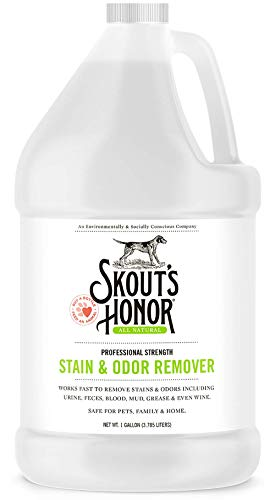 Skout's Honor: Professional Strength Stain and Odor Remover - One Gallon (128 oz) - Deodorize and...