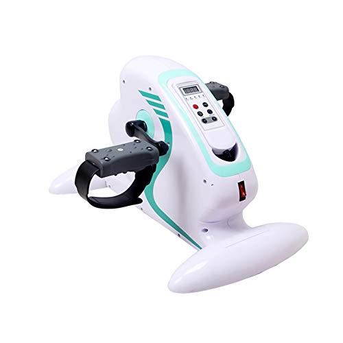 Mini Bicicleta Estática Pedaleador Estaticos Ejercitador de Pedal para Entrenamiento de Brazos y Piernas LCD Pantalla y Resistencia Ajustable, Pedaleo asistido con Motor o Manual