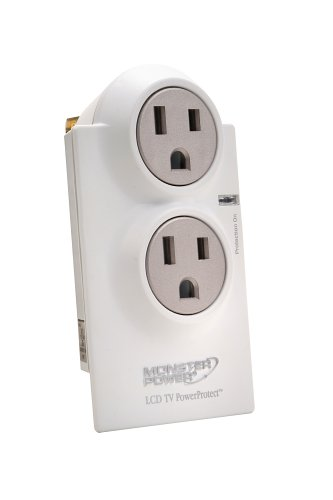Monster Home Series LCD PowerProtect, 2 outlets, White (Discontinued by Manufacturer)
