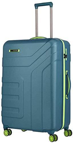 travelite Valise à 4 roulettes Taille L avec Serrure TSA, série de Bagages Vector : Valise Trolley Robuste à Coque Rigide, dans des Couleurs élégantes, 77 cm, 103 litres, Bleu