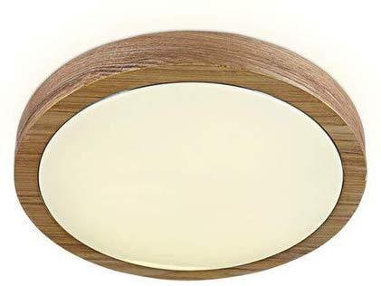 AK Deckenleuchte Kreative runde Fensterbeleuchtung Lampen Personality Log Aisle Leuchtet Massivholz Flurbeleuchtung Moderne Minimalist Deckenleuchten,A (weißes Licht) sie