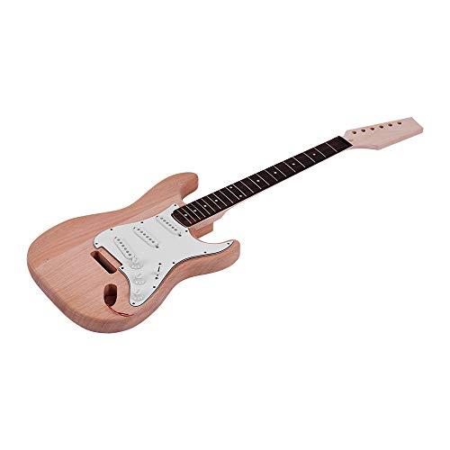 Fesjoy ST Stil Unfinished DIY E-Gitarre Kit Mahagoni Korpus Ahorn Gitarre Hals Palisander Griffbrett
