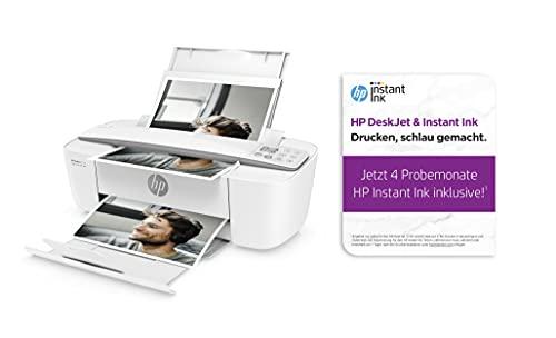 HP DeskJet 3750 - Impresora multifunción (impresión, escaneado, fotocopia, WLAN, AirPrint, con 4 Meses de Prueba HP Instant Ink Incluido), Color Gris