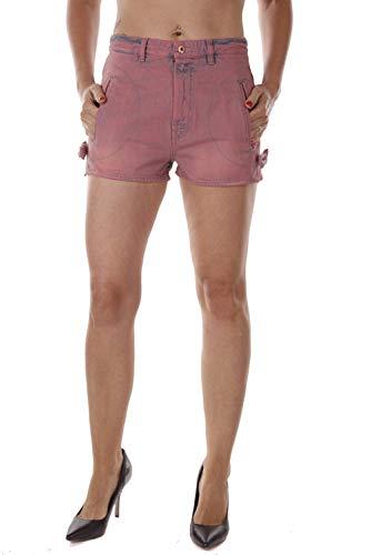 Diesel DE-MYA Damen Jeans Bermuda Shorts (27W, Rot)