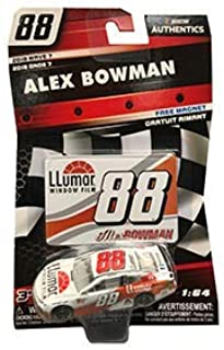 NASCAR Authentics Alex Bowman #88 Diecast Car 1/64 Scale - 2018 Wave 7 - with Free Magnet - Collectible