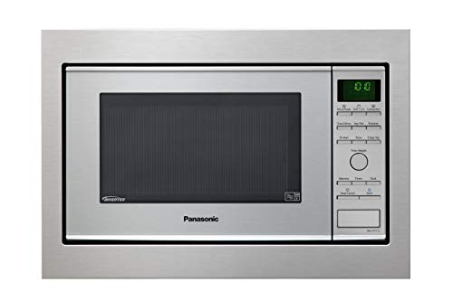 Panasonic NN-CF771 - Microondas Horno con Grill Combinado encastrable (1000 W, 27 L, 6 niveles, Inverter, Grill 1300 W, 100-250ºC, 19 modos, Base Plana sin plato) Acero Inox
