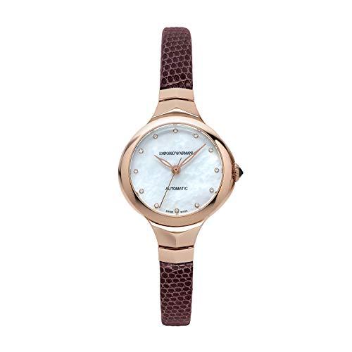 Emporio Armani Damen Analog Automatik Uhr mit Leder Armband ARS8250