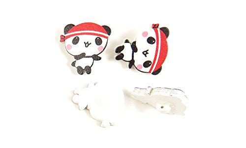 Great Deal! 500 Pieces Sewing Sew On Buttons BT21233 Running Panda Wooden Wood Arts Crafts Notions S...