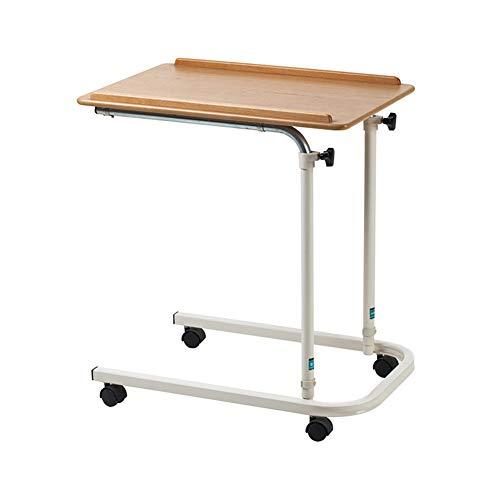 Rabbfay Betttische-Tisch Für Den Heimgebrauch - Bett-Tisch Für Den Heimgebrauch Mit Kippplatte - Bett-Tablett-Tisch Für Essen Und Laptops - Bett-Nachttisch Mit 360 ° -Universalrad