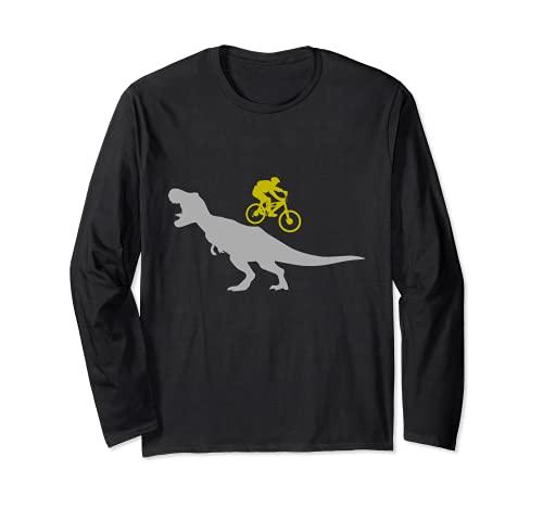 Mountainbike T-Rex Dinosaurier für Downhill Mountainbiker Langarmshirt