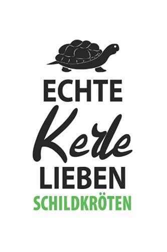 Echte Kerle Lieben Schildkröten: 6X9 Zoll Notizbuch – Kariert – Din A5 Heft Notizblock zum Thema Schildkröten Mit 120 Seiten Schreibblock | Tagebuch ... | Notiz Buch Geschenk Schmierheft Schulheft