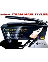 Steam Ceramic Hair Straightener Flat Iron - Professional...
