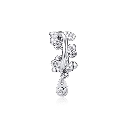 Diy 100% Real 925 Sterling Silver Clear Chandelier Droplets Dangle Beads For Jewelry Making Fits Pandora Charms Bracelets