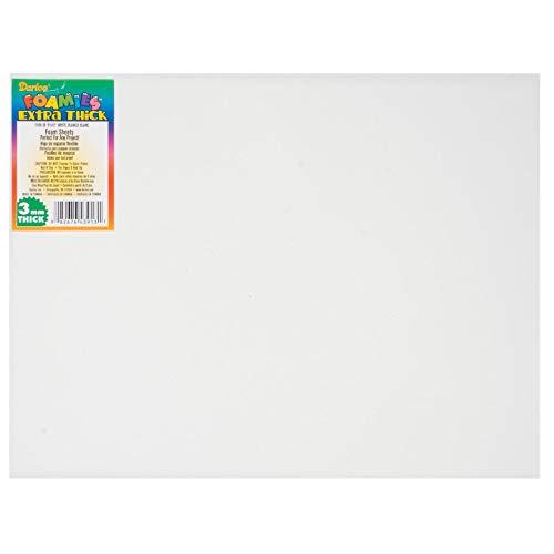 Darice Foamies Foam Sheet White 3mm Thick 9 x 12 inches (10-Pack) 1189-28