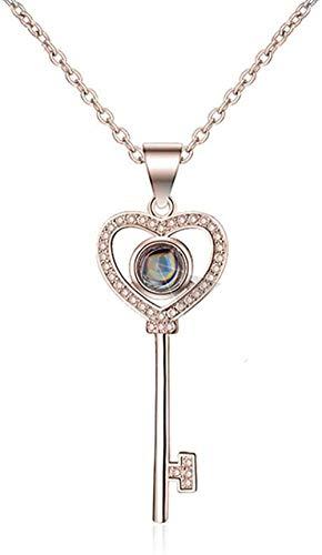 BACKZY MXJP Halskette Personalisierte Foto-Halskette Projektions-Halskette Versprechen-Halskette 925 Halskette Frauen-Halskette