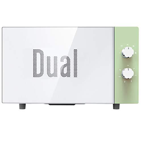Horno de microondas giratorio, 0.7 pies cúbicos, acero inoxidable, gabinete blanco, horno mecánico pequeño retro incorporado para el dormitorio, blanco (color : Green)