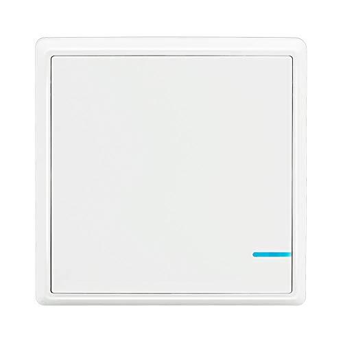 Lichtschalter Funkschalter Drahtloser Schalter, zusätzliche Fernbedienung von Thinkbee Wireless Lichtschalter Set, Wasserdichter Wandmontage oder Tragbar