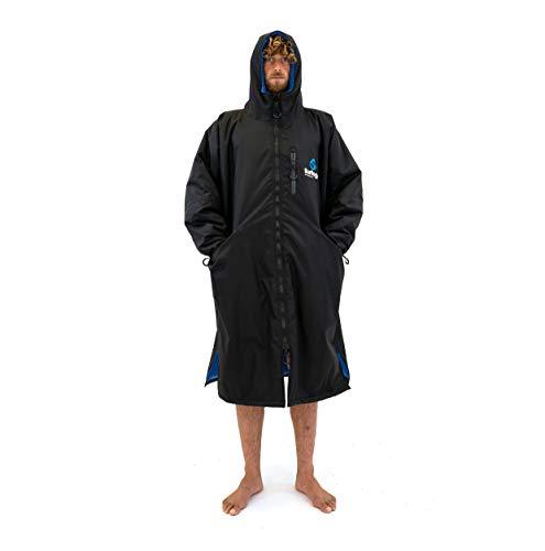 Surflogic Storm Robe LS Waterproof Poncho/Changing Robe - Black - 59827 S