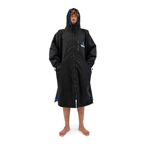 Surflogic Storm Robe LS Waterproof Poncho/Changing Robe - Black - 59827 XL