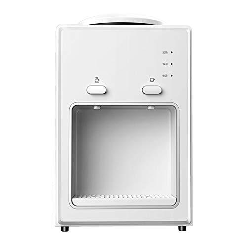 WXFQY Caliente y fría Tabla Dispensador de Agua con enfriamiento electrónico, Mini pequeño Ahorro de energía del hogar de la máquina del Agua, Temperatura Dual de Control, el botón de Entrada de Agua